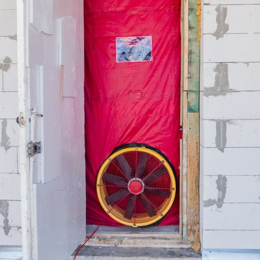 blower door testing system