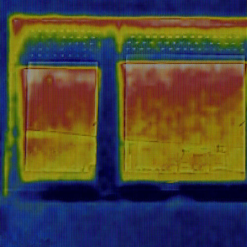 Thermal Image of Heat Loss Through Window.