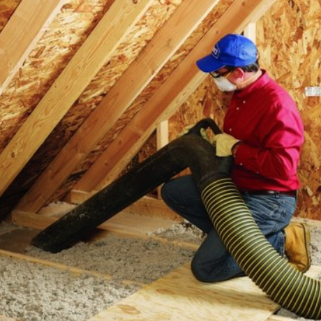 Energy Specialists During Attic Insulation Removal