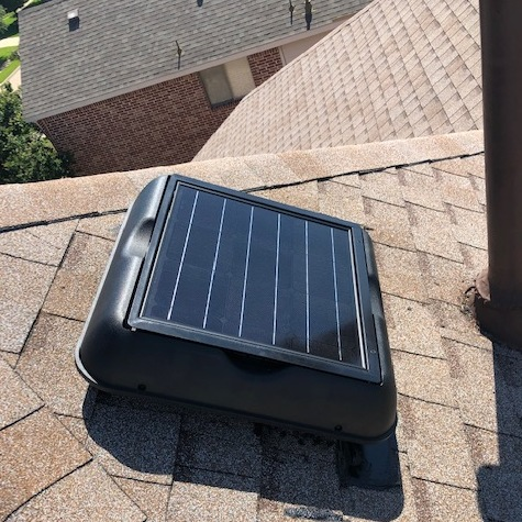 Home Energy Specialists Install a Solar Fan
