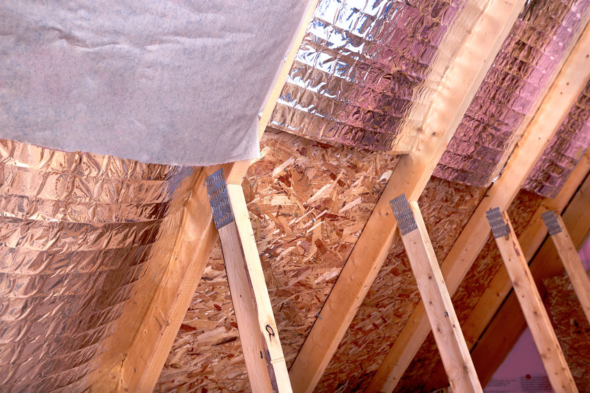 Attic Insulation Project Between Joists