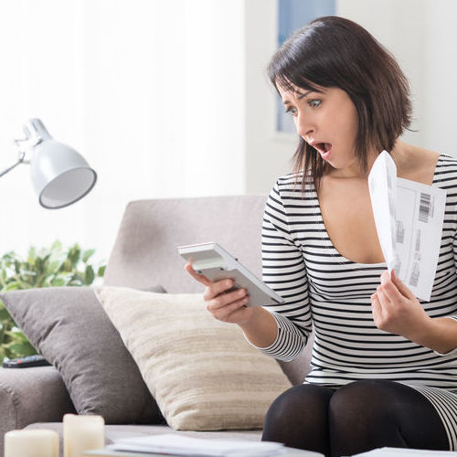 A Woman is Shocked by Her Energy Bill